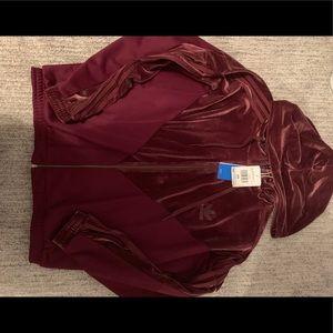adidas Jackets & Coats - NWT adidas velvet jacket(MATCHING pant on my page)